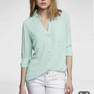 3/$25 ♡ Mint Portofino blouse